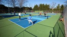 IMAGES: Raleigh opening first outdoor pickleball courts