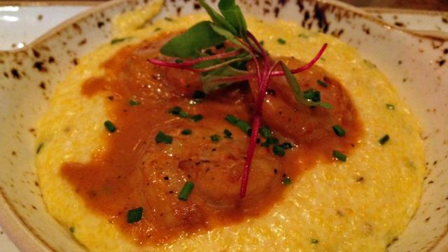 Barbecue Shrimp and Grits at Rye Bar and Southern Kitchen