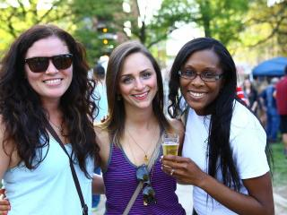 Beer lovers from all over celebrate the 10th Annual World Beer Festival at Moore Square Park, Downtown Raleigh, N.C. on Saturday April 11, 2015. Music, food, crafts and BEER for record crowds in downtown Raleigh. (Chris Baird / WRAL Contributor).