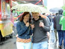 Brewgaloo, the NC Craft Beer Festival, was presented by Shop Local Raleigh on Saturday, April 25, 2015. The event was held in City Plaza and featured food trucks, love music and local beers.