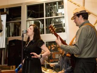 Tea Cup Gin performs at the Burger Smashdown at Fullsteam on Saturday, where five burger makers competed.