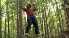 Go Ape Treetop Course at Blue Jay Point Park in Raleigh.