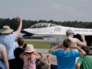 Thousands turned out for the Wings Over Wayne air show at Seymour Johnson Air Force Base. (Photos by John Payne)