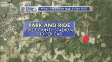 Park and ride from Five County Stadium