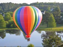 WRAL photographers took to the air to get these shots during the WRAL Freedom Balloon Fest on May 24, 2015.