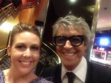 WRAL Out and About Editor Kathy Hanrahan and Tommy Tune at the 2015 Tony Awards.