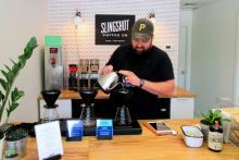 Jonathan Bonchak of Slingshot Coffee.