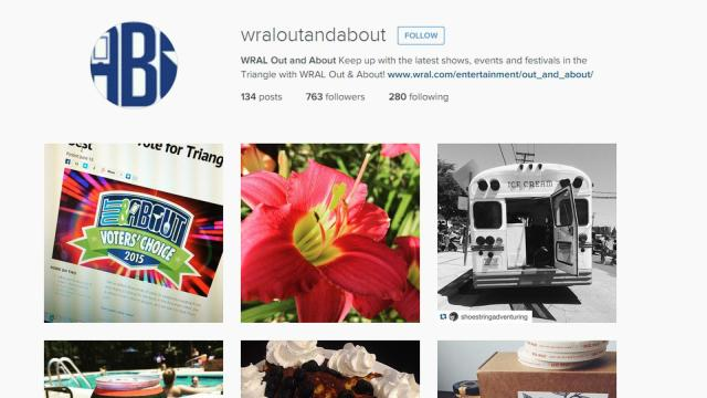 WRAL Out and About on Instagram