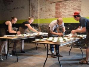 Snap Pea Underground pop-up dinner June 26, 2015 in Durham.