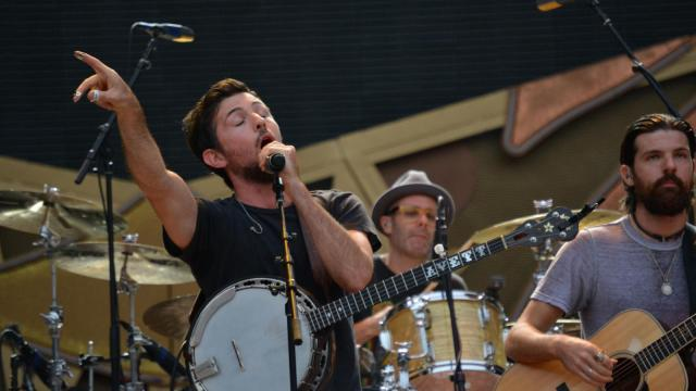 The Avett Brothers opened for the Rolling Stones at Carter Finley Stadium at N.C. State University on July 1, 2015.