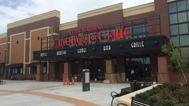 CineBowl and Grille will open July 10 in the Parkside Town Commons shopping area in Cary.