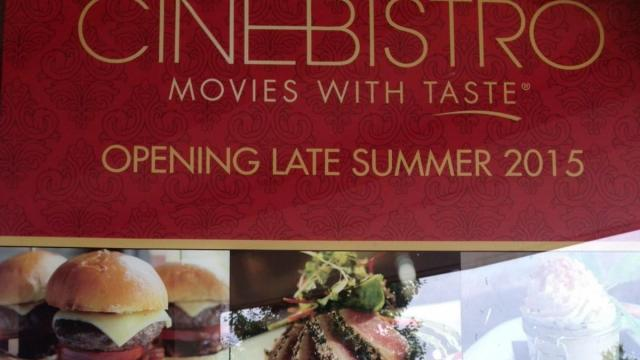 CineBistro will open in late summer in Waverly Place in Cary.