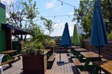 The rooftop at Raleigh Beer Garden.