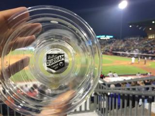 Bottom-up beer cup from Bull Durham Beer