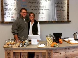 Tracy and Beth McKenzie, owners of Back Alley Coffee Lab