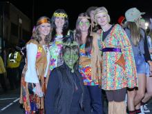 Tens of thousands came out to Franklin Street on Saturday night to celebrate Halloween.