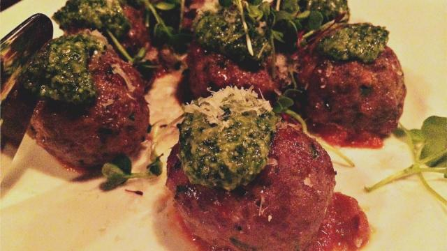 Meatballs from more.  at 116 N. West St. in Raleigh.