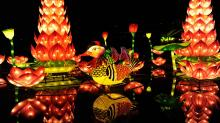 2015 NC Chinese Lantern Festival runs from November 28 until January 3 at Koka Booth Amphitheater in Cary.