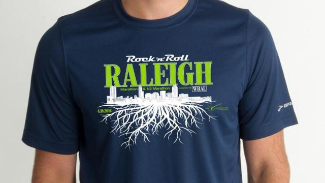 Organizers of the Rock 'n' Roll Marathon released the T-shirt design Wednesday for participants in Raleigh's April 10 marathon and half marathon.