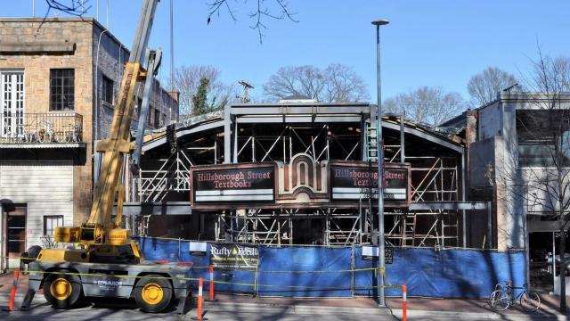 H-Street Kitchen under construction on Hillsborough Street in Raleigh. (Facebook)