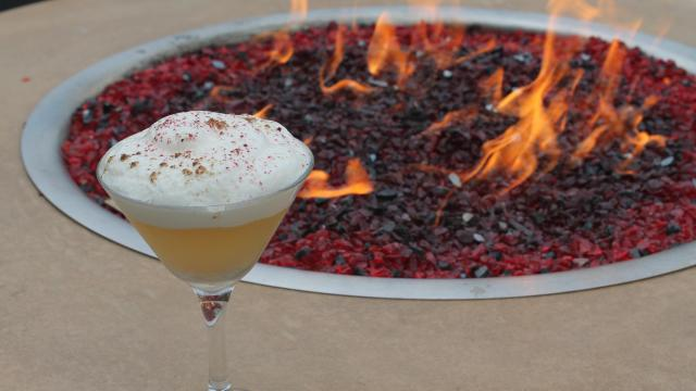 ​It's time to put Juju's fire pit into action. And the Gin Couchee is the cocktail you'll want in your hand when you're gathered around it with friends on one of these crisp wintry evenings.  (Durham Magazine)