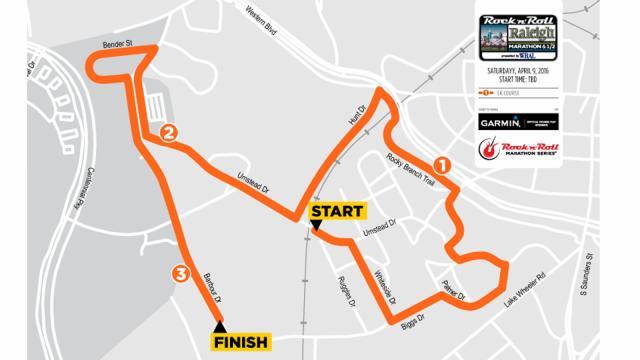 Rock 'n' Roll Marathon 5K course