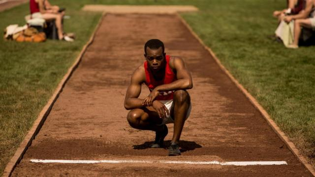 "In a scene from ""Race,"" track-and-field superstar Jesse Owens (Stephan James) prepares to compete in the 1936 Olympics in Berlin."
