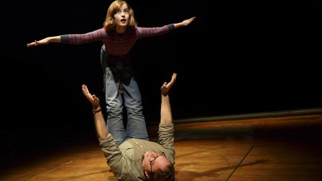 Fun Home at Circle in the Square Theatre. Sydney Lucas, Michael Cerveris. Photo Credit Joan Marcus.