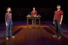 Fun Home at Circle in the Square Theatre. Sydney Lucas, Beth Malone, Emily Skeggs. Photo Credit Joan Marcus.