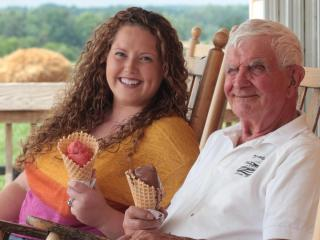 Allison and Bob Nutter at Maple View Farm in Orange County. (Briana Brough/Durham Magazine)