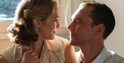 "Elizabeth Olsen and Tom Hiddleson in ""I Saw the Light."""