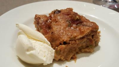 Chef Gettles' Rhubarb Bread Pudding