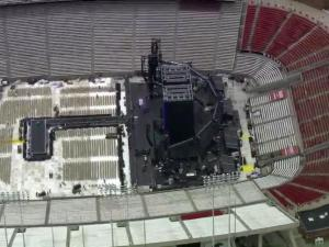 The stage is set for Beyonce at Carter-Finley Stadium
