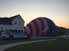 Raw: Balloon lands in Holly Springs neighborhood