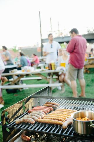 Ponysaurus Brewing in Durham is beginning a new program that allows visitors to reserve a grill and all the fixings for a cookout at their Hood Street beer garden.