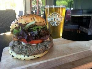 Chef John Ford of Cameron Bar and Grill has created the Hoisin Mushroom Burger for the James Beard Foundation's Blended Burger Project.