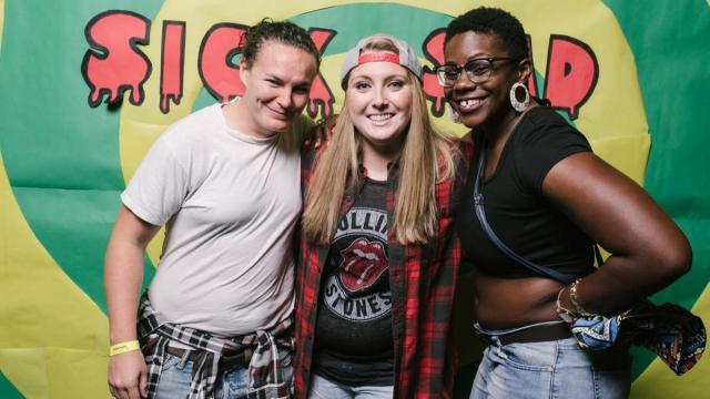 Flannel shirts and lived-in jeans were the outfit of choice a the 'We Love the 90s Dance Party'