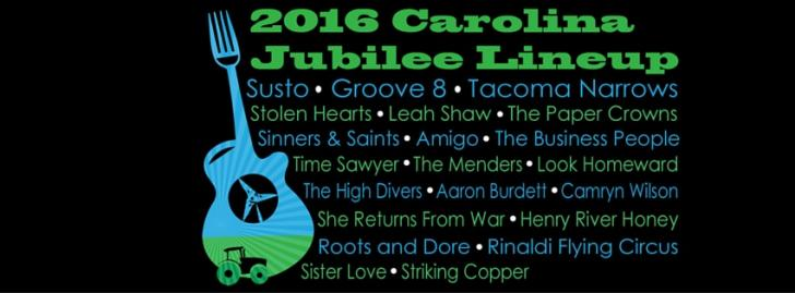 The Carolina Jubilee line-up