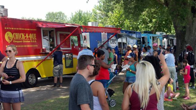 Classic fair foods and food trucks from around the Triangle offered a variety of eating options from fish to ice cream.