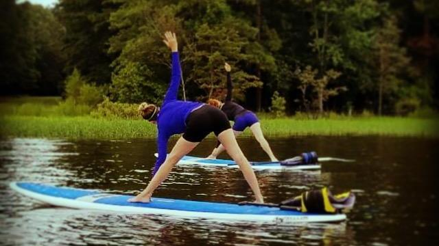 SUP Yoga at Jordan Lake (Courtesy of Ashley Nunn)