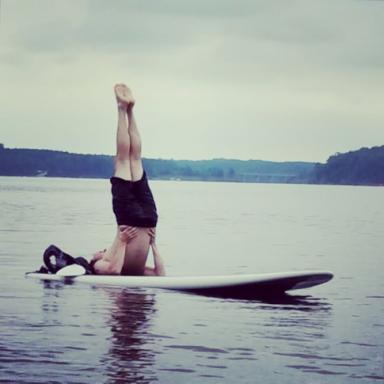 SUP Yoga at Jordan Lake (Courtesy of Ashley Nunn)