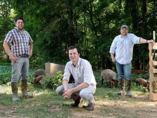The guys of the NC Barbecue Revival.