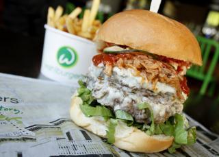 The Beast burger. Photo courtesy Nicoletta Amato Photography