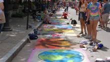 IMAGES: Artists paint the streets at SPARKcon in Raleigh
