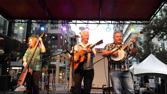 The Wide Open Bluegrass Festival in downtown Raleigh on Saturday, October 1, 2016. Photo by Chris Adamczyk.