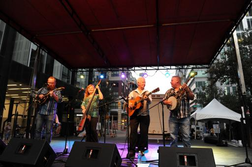 Music played everywhere at Bluegrass Festival