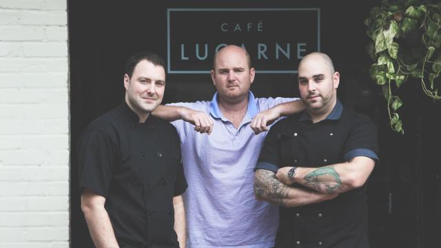 Jeff Seizer, Will Jeffers and Jesse Bardyn have partnered to open Royale in City Market. (Photo by Felicia Trujillo)
