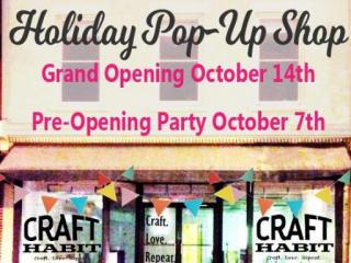 Craft Habit Holiday Pop Up Shop