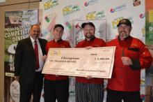 Team Vidalia Boom: From Vidalia Restaurant in Boone, NC. Team members Jason Walsh, Captain Chef Sam Ratchford, Julius Kalman (Competition  Dining)