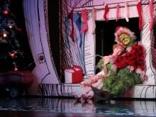 "Brooke Lynn Boyd and Stefan Karl in ""Dr. Seuss' How the Grinch Stole Christmas! The Musical.""  Photo by: PAPARAZZIBYAPPOINTMENT.COM"